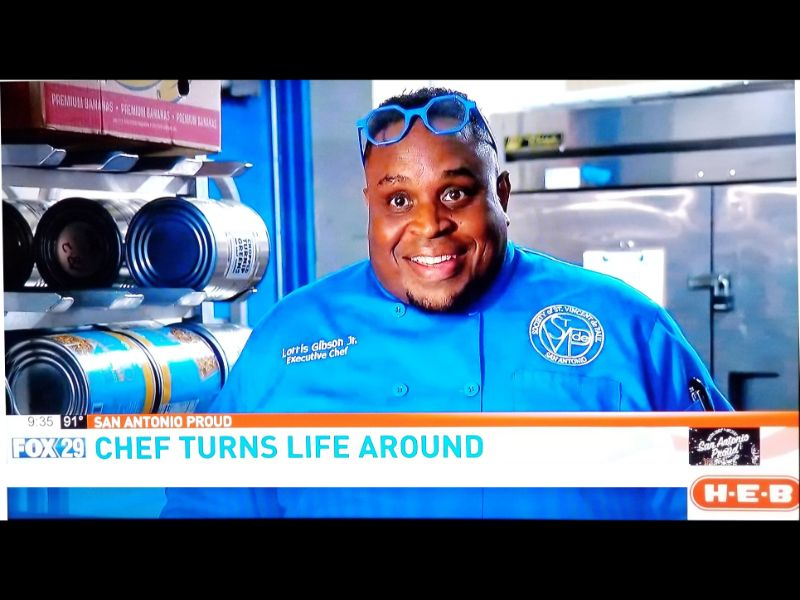 """Chef Lorris tells his story of how he transformed his life from homelessness, starting as a trainee at St Vinnys Bistro and becoming the Executive chef.  He was featured in the """"San Antonio Proud"""" segment of KABB's Fox 29.  See the story here: https://foxsanantonio.com/news/local/chef-hopes-to-help-homeless-with-new-line-of-sauces"""