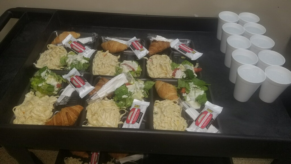 Bistro staff feeds homeless hot 4 course meals during ice & snow storm.